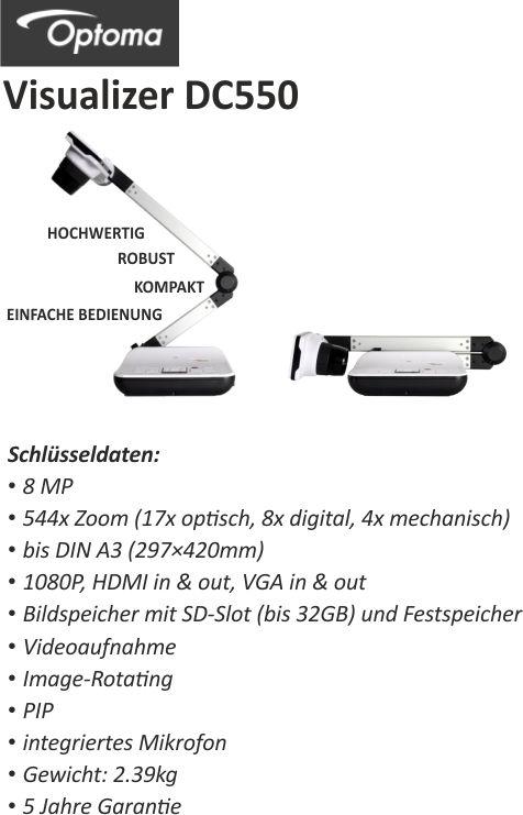 Optoma DC550